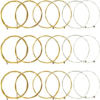 JYsun Acoustic Guitar Strings 3 Full Sets with Stainless Steel Core Phosphorus Bronze Wound Nickel-plated Bead Head Including E-1st B-2nd G-3rd D-4th A-5th E-6th