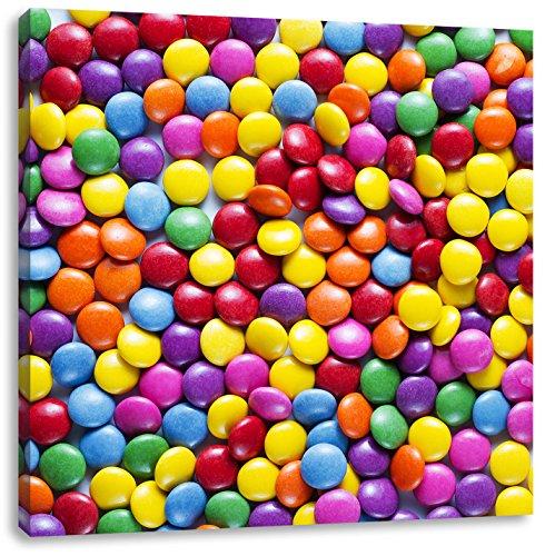 zoet suikergoedCanvas Foto Plein | Maat: 60x60 cm | Wanddecoraties | Kunstdruk | Volledig gemonteerd