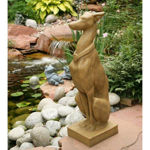 LADYBUG 6194M Whippet Statue in Moss Finish