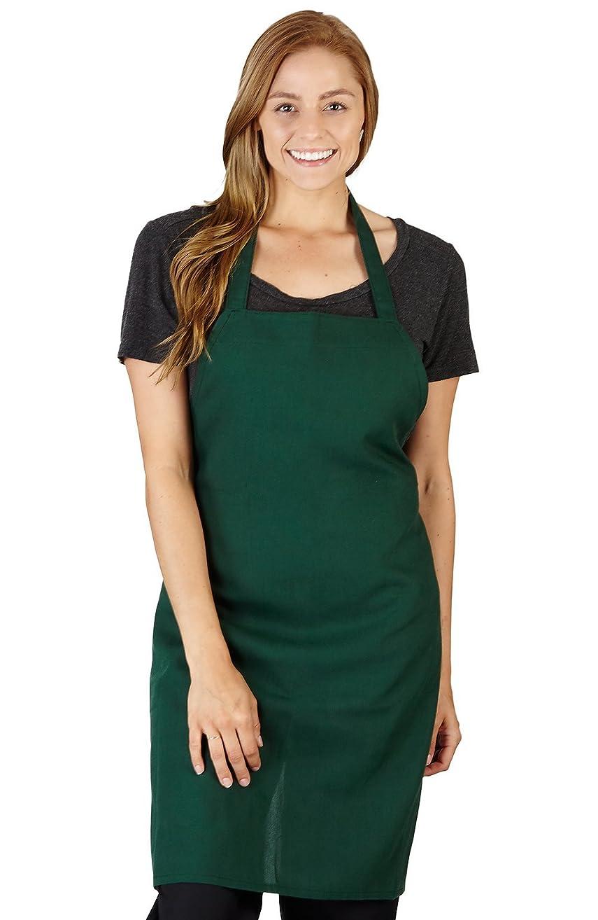 Natural Uniforms Commercial Bib Apron (2, Hunter Green)