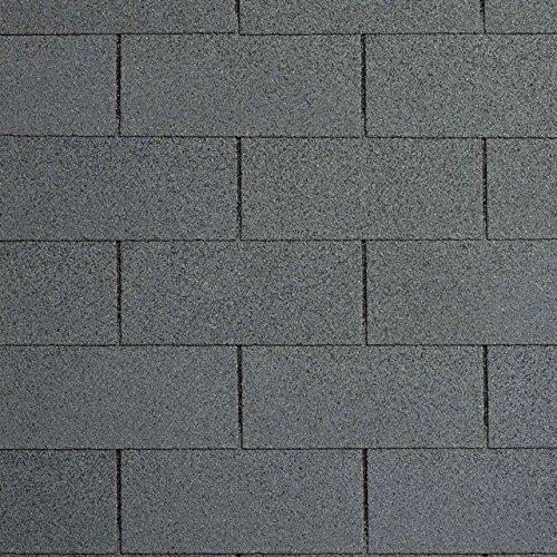 Bitumenschindeln Rechteckschindeln schiefer/grau, 3 m², Bitumendachschindeln, Dacheindeckung Gartenhaus Dachschindeln