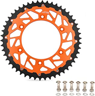 50T Teeth Rear Chain Sprocket For KTM EXC EXC-F EXE SX SX-F SXS SXC XC-W XC XC-F XCFW MXC SMC SMR 125 144 150 200 250 300 350 380 400 LC4 450 520 525 530 540 560 640 690 790 Duke CNC Orange