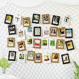 ecooe Foto hängende Wanddekoration Collage DIY Bilderrahmen Wanddekoration, Größe L Fischernetz...