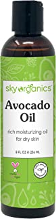 Avocado Oil by Sky Organics (8oz) 100% Pure Natural & Cold-Pressed Avocado Oil - Ideal for Massage Cooking and Aromatherap...