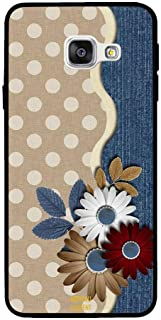 Samsung A5 2016 Case Cover Brown and White Flower, Moreau Laurent Premium Phone Covers & Cases Design