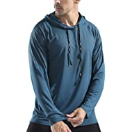 Gerlobal Mens Gym Workout Active Muscle Bodybuilding Long Sleeve Hoodies Casual Hooded Sweatshirts