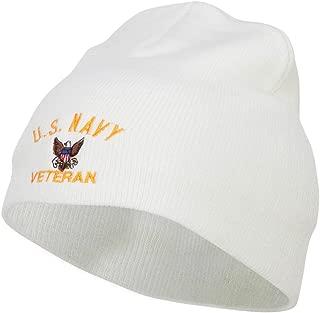 e4Hats.com US Navy Veteran Military Embroidered Short Beanie