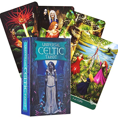 Universal Celtic Tarot 78 Cards Deck Floreana Nativo Game Divination Reading Love Moon Near Me Beginners Friend Party Board Game Toys