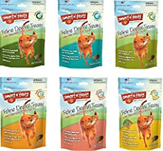 Smart n' Tasty 3oz Cat Dental Grain Free Treats - 6 Flavor Variety Pack