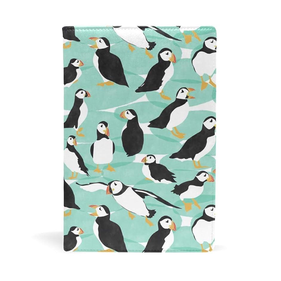 顎樫の木焦がすペンギンたち ブックカバー 文庫 a5 皮革 おしゃれ 文庫本カバー 資料 収納入れ オフィス用品 読書 雑貨 プレゼント耐久性に優れ