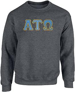 Alpha Tau Omega Twill Letter Crewneck Sweatshirt