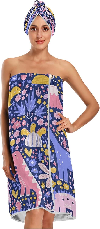 Ranking TOP11 xigua Women Bath Towel Wrap Floral Cute Set Branded goods Dinosaur Adjustable