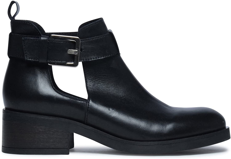 Sacha Schuhe   Damen Biker Stiefel   Cut-Out    | Verschiedene aktuelle Designs