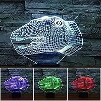 ベッドルームリビング雰囲気ランプテーブルランプスリープランプベッドサイドランプ、AとLED恐竜の夜の光アクリルの3D製品モデル