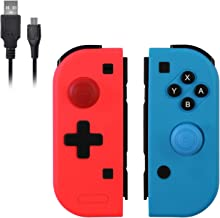 $35 » Wireless Switch Joy Pad, Replacing for Nintendo Switch Joy Con Controller, Compatible with Nintendo Switch Console, Support Dual Vibration (Red & Blue).
