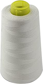 1 Spool of Polyester Sewing Thread for Sewing Machine Garment Making Bedsheet Lining Thread 40S/2 Beige