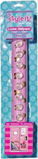 3C4G Locker Wallpaper, Pink with Gold Hearts