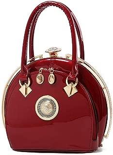Redland Art Women's Fashion Sparkly PU Leather Mini Clutch Bag Wristlet Evening Handbag Catching Purse Bag for Wedding Party (Color : Claret)