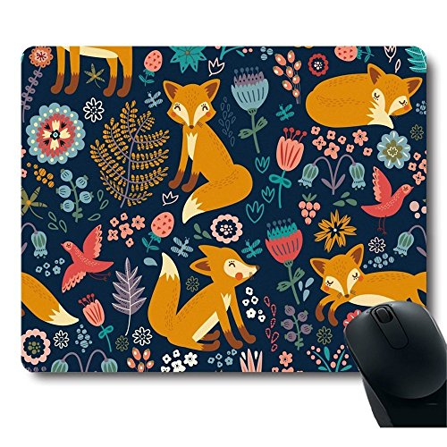 Customized National Style Fox Pattern Stain Resistance Collector Kit Kitchen Drink Coaster Mouse Pad