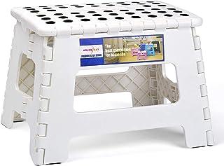 Tabouret pliable en plastique pour enfant Blanc 22 x 22 x 28 cm
