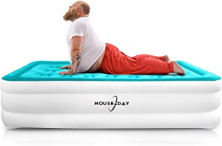 HOUSEDAY Twin Air Mattress with Built- Raised Electric Airbed with Built in Pump Fast Inflation Carry Bag Highest End Blow...