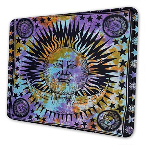 Mouse Pad Indian Tie Dye Elephant Good Luck Gaming Mouse Pad Non-Slip Waterproof Rubber Mouse Mat for Desktop Computers Laptop Office Home 10x12 in