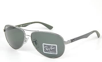 NewRay Ban Tech RB8313 004/N5 Gunmetal/Crystal Grey Polarized Lens 61mm Sunglasses