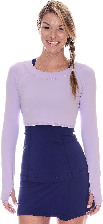BloqUV Women's Long Sleeve Crop Top