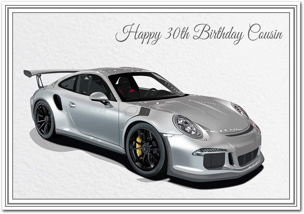 features Cobra Sports Car Grandson Birthday Card