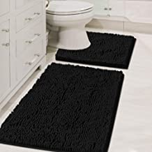 Plush Microfiber Bath Rug Set Chenille Floor Mat Ultra Soft Washable Bathroom Dry Fast Water Absorbent Bedroom Area Rugs K...