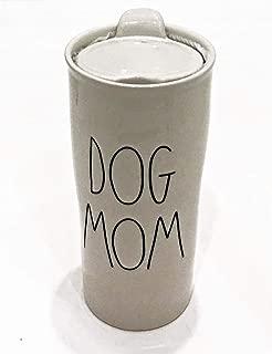 Rae Dunn by Magenta Ceramic Travel Tumbler Mug | DOG MOM