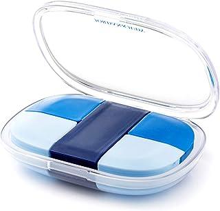 HLYT-0909 Boîte de Rangement Boîte à Petite Pilule avec Grande capacité, boîte de Rangement Portable Pendant 7 Jours, 5 De...