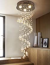 Junhong Lighting Chandelier LED 3 Brightness Clear K9 Crystal Ceiling Lights Fixture Lamps Chandeliers Pendant Lights Ligh...