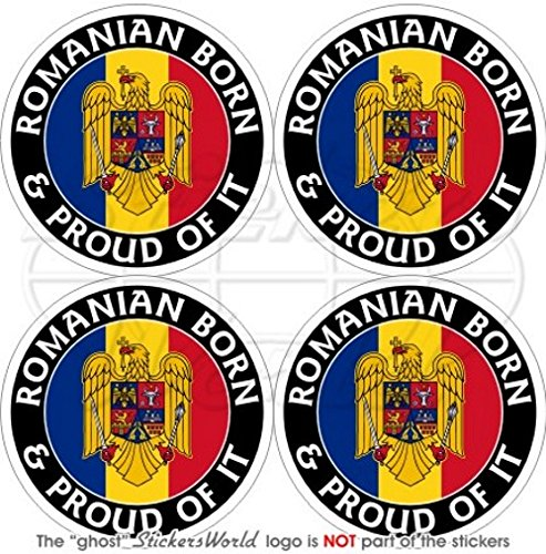 Bumper Sticker en vinyle Roumanie Roumain armoiries de badge /Écusson 100/mm 10,2/cm en