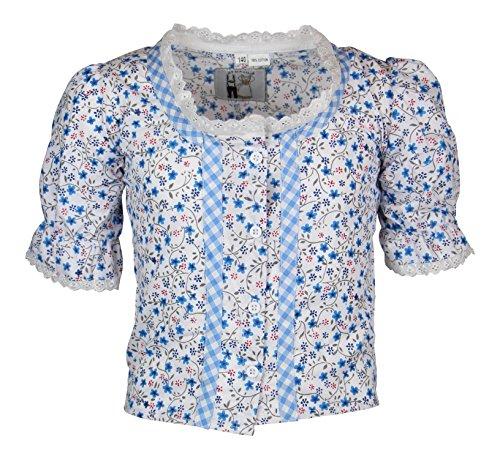 MS-Trachten Kinder Trachten Bluse Mädchenbluse Emilia (104, hellblau)