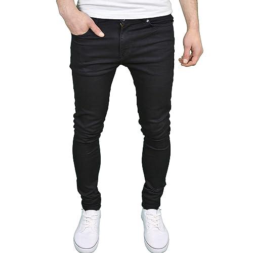 04736b3d834f 526Jeanswear  SENJO  Mens Designer Stretch Super Skinny Fit Jeans