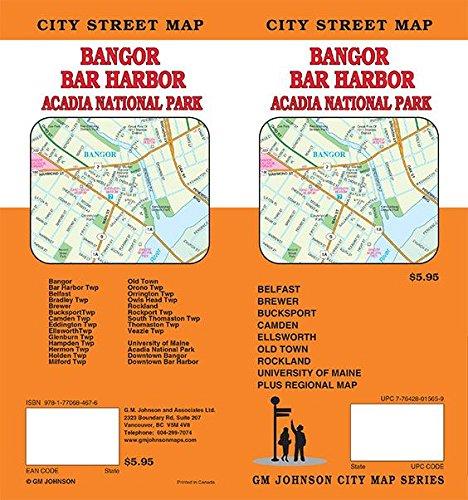 Bangor / Bar Harbor / Acadia NP, Maine Street Map