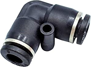 Tailonz Pneumatic PV-1/4 Plastic Push to Connect Fittings Tube Elbow Connect 1/4 inch od Push Fit Fittings Tube Fittings Push Lock (Pack of 10)