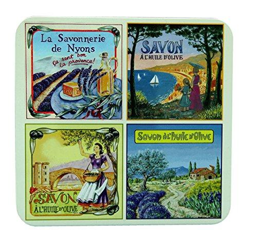 La Savonnerie de Nyons Provence View Boîtes de 4 savons 100 grammes, Multi/Couleur, Taille Unique