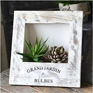 fairy maker Wooden Frame Planter for Succulent Frame 3D Artificial Flower Airplant Holder, Topiary Plants Holder Rustic Home Decorations