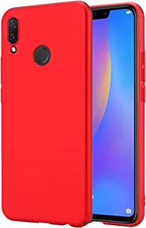 RKINC Hard Plastic Ultra Thin Matte Finish Shock Resistant Scratch Resistant Case Cover for Huawei Nova 3i(Red)