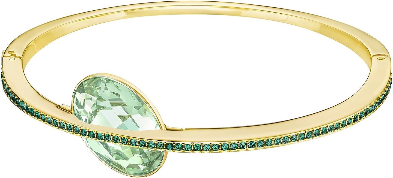 SWAROVSKI Land of Hope Bangle - Green - Gold Plating - 5382801