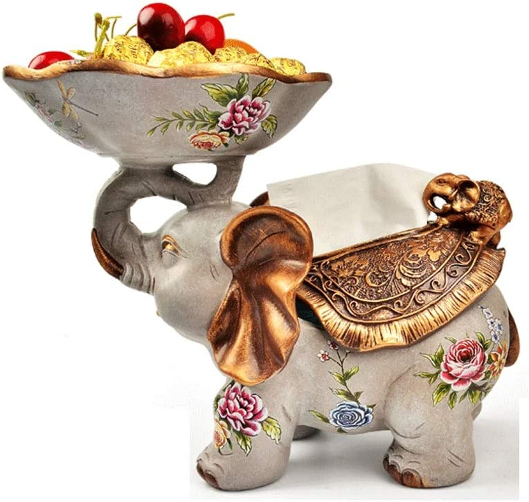 YYDS Tissue Holder Albuquerque Mall Multifunction Box Deskt Elephant New product! New type Resin