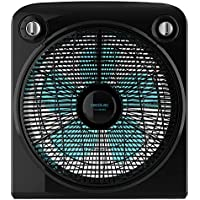 "Cecotec Ventilador de Suelo ForceSilence 6000 PowerBox Black. 5 Aspas de 12"" (30cm) de Diámetro, 3 Velocidades, Motor de Cobre, Rejilla Rotatoria, Temporizador de 2h, 50W"