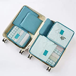 Travel Luggage Organizer Packing Organizer Packing Cubes Multifunctional/Breathable/Dust Proof for Foldable/Luggage/Clothes Nylon 47 * 35 * 5 cm@Light Blue