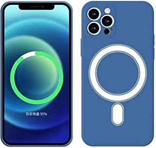 CAILINS iPhone 12 Pro Max Case Magnetic 12/12 Pro/12 mini Case Cover Wireless Charging Silicone Case Smooth And Soft Phone...