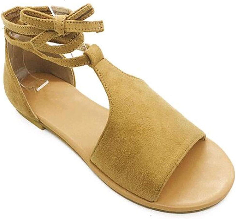 goldsmyth Fashion Women Roman Sandals Peep-Toe Casual Summer Beach Flat shoes Comfortable