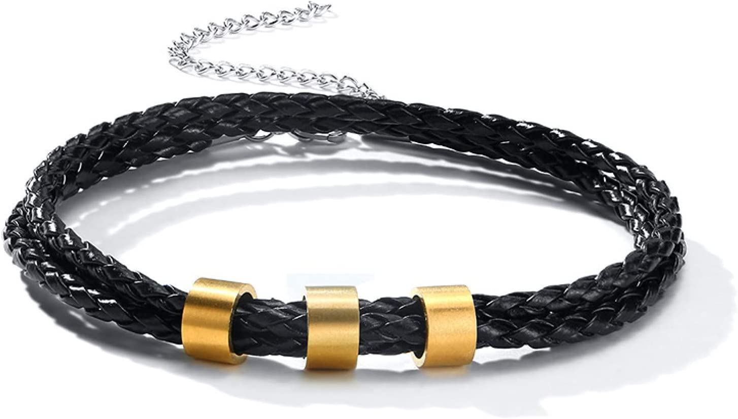 GTHT Men Great interest Bracelets favorite for with Beads Layered Leather