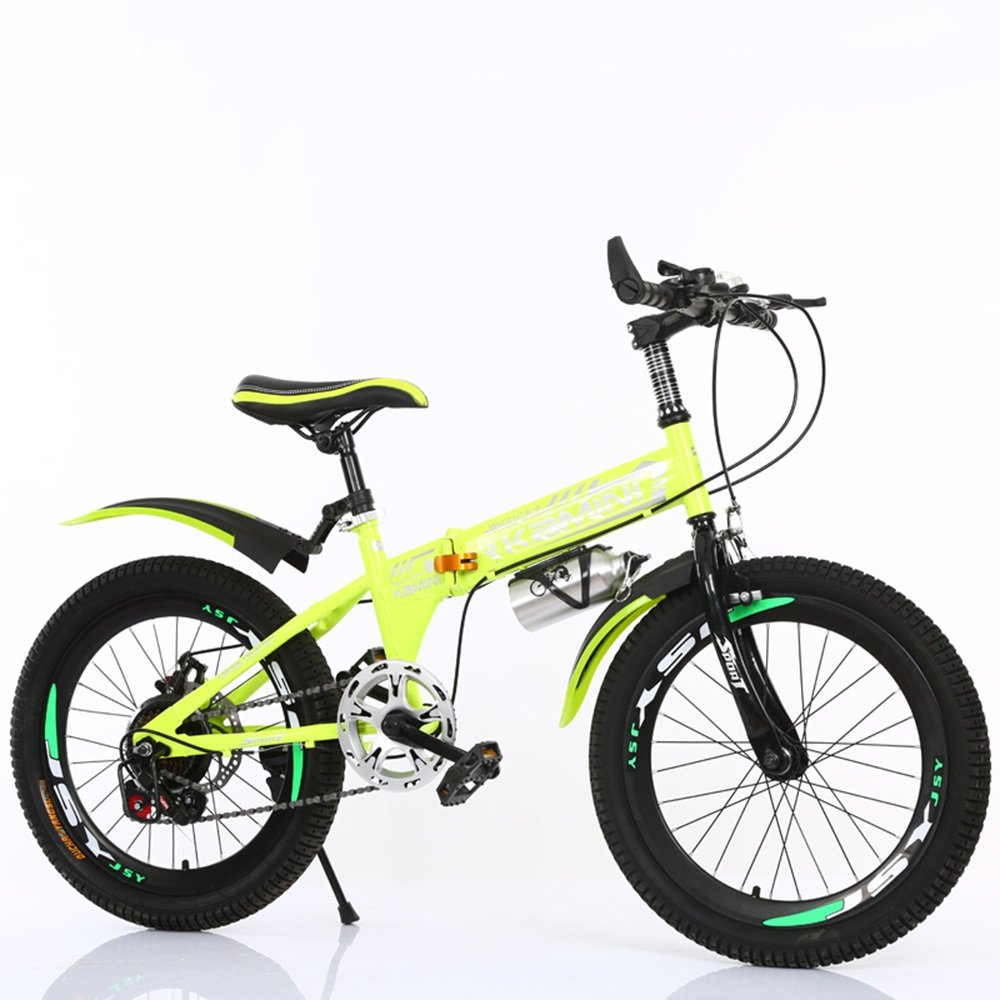 CivilWeaEU- Bicicleta para niños de 20/22 Pulgadas 6-8-10-12 años, niños y niñas se Pueden Plegar Bicicletas para los Alumnos (Multicolor Opcional) (Color : Amarillo, Tamaño : 22 Inches): Amazon.es: Hogar