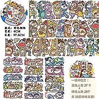 マスキングテープ meatball 枠シリーズ 人物 特殊インク 手帳 DIY ギフト かわいい シール 手帳テープ 海外マステ (1)